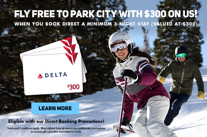 Book direct a minimum a 3 night stay and get a $300 Delta e-card