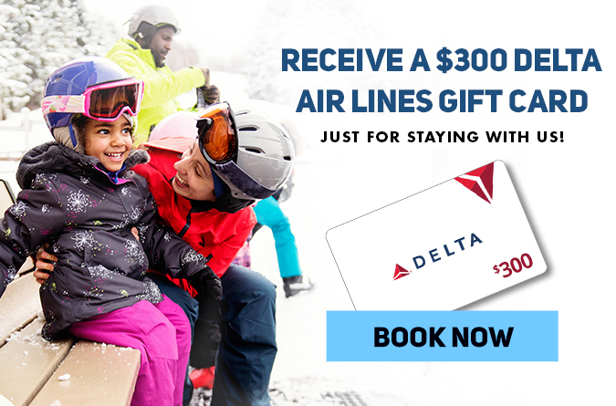receive a $300 delta air lines gift card just for staying with us!
