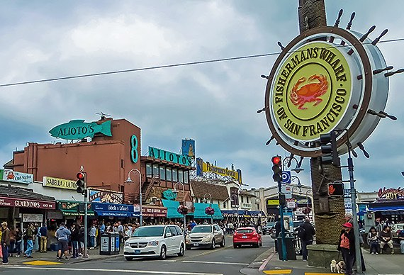 Historic Fishermans Wharf Street Intersection