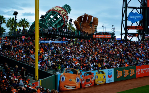 inside the stadium at at and t park in san francisco