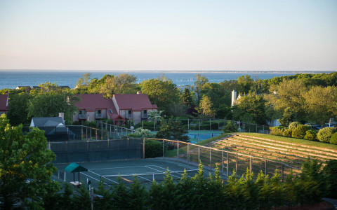 the tennis courts at ocean edge