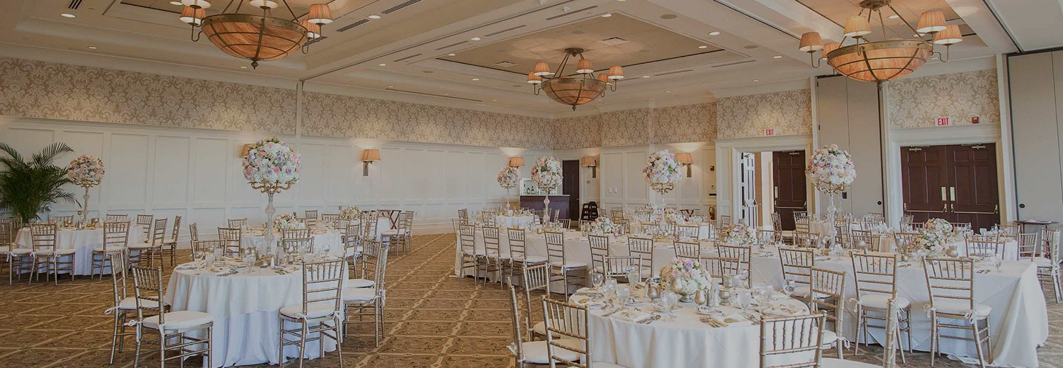 a dining room set for a wedding reception