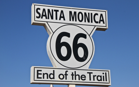 santa monica route 66 end