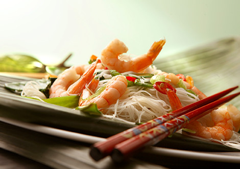 shrimp noodles asian