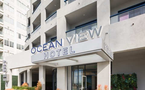 oceanviewhotel front exterior with Sign (Ocean View Hotel)