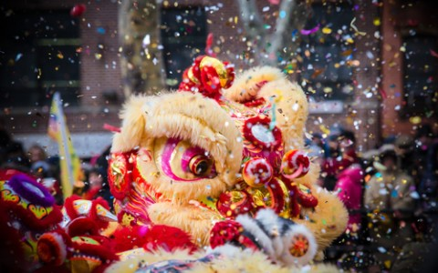 Celebrating Lunar New Year with Dancing Lion