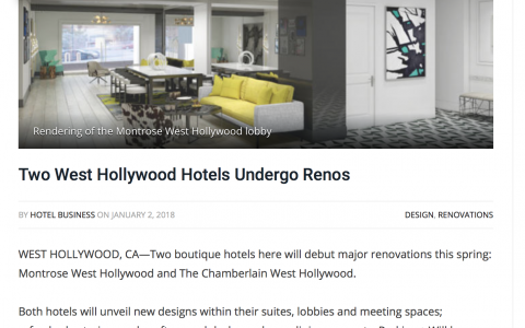 Two West Hollywood Hotels Undergo Renos