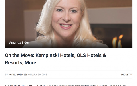 On the Move: Kempinski Hotels, OLS Hotels & Resorts; More