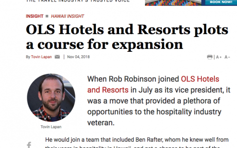 OLS Hotels and Resorts plots a course for expansion