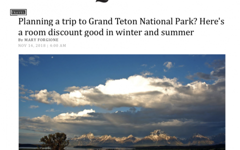 Planning a Trip to Grand Teton National Park? Here's a Room Discount Good in Winter and Summer