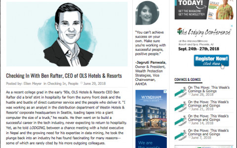 Checking In with Ben Rafter, CEO of OLS Hotels & Resorts