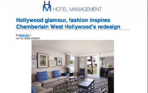 Hollywood glamour, fashion inspires Chamberlain West Hollywood's redesign