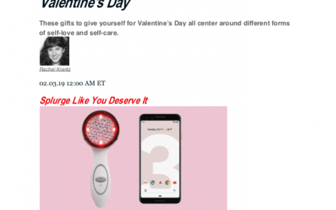 The Daily Beast - Gift Guide: Gifts To Give Yourself for Valentine's Day