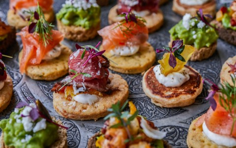 catering canapes for party