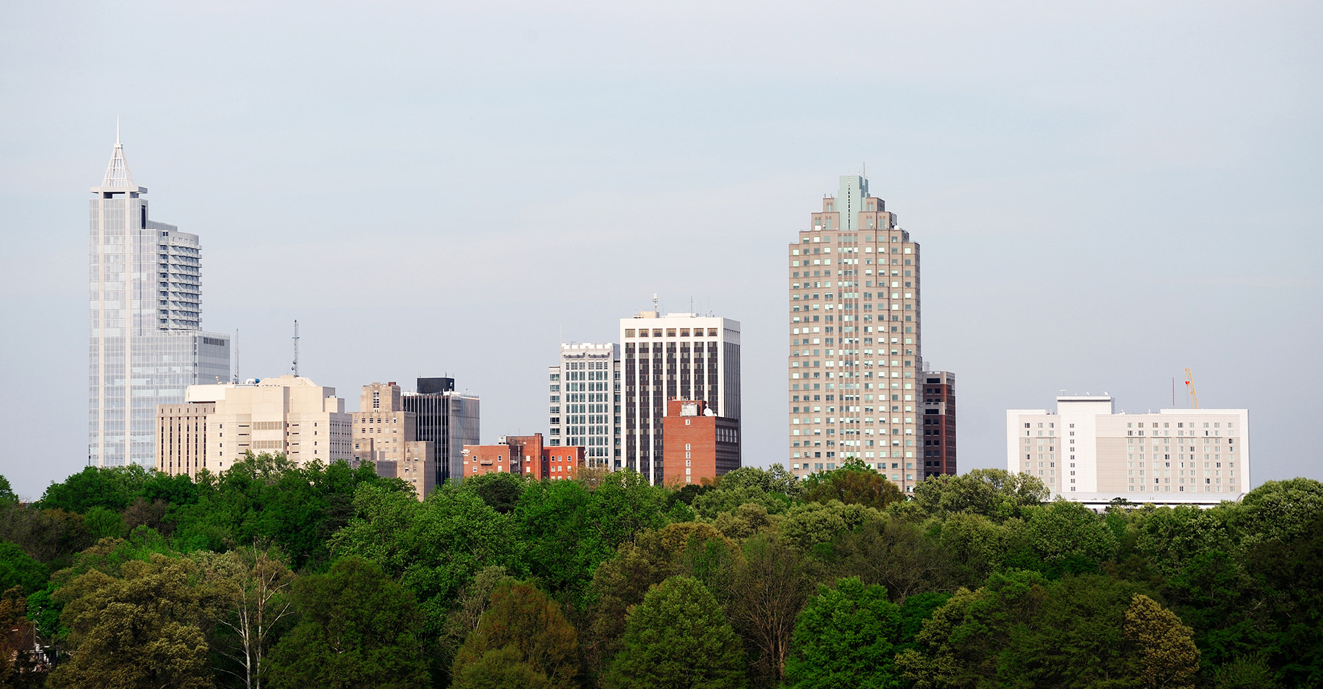 view of downtown raleigh buildings