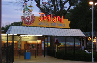 Entrance to Joyland Amusement Park in Lubbock Texas