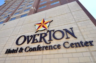 Exterior sign of the Overton Hotel & Conference Center