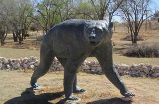 Sculpture of Giant Short Faced Bear