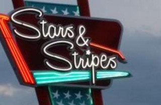 Stars and Stripes Drive In Theatre Sign