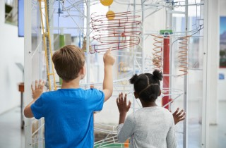 children at science museum