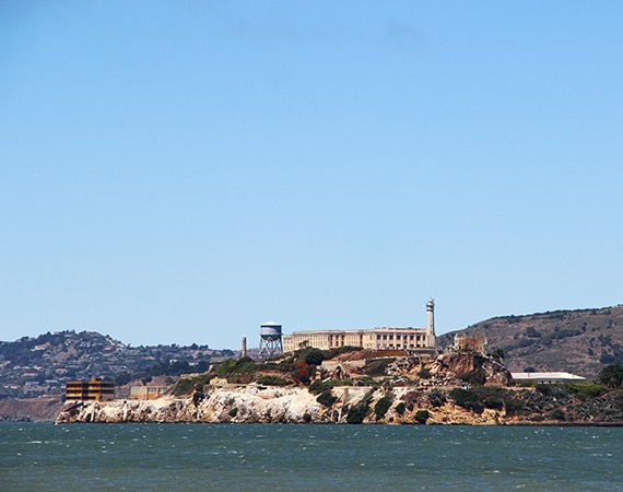 Alcatraz overview shot during the day