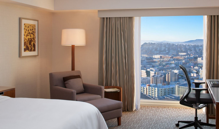 guest rooms with a view of the city
