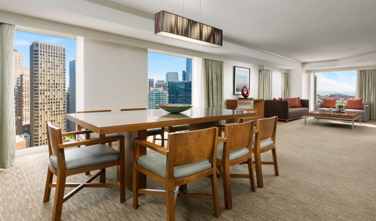 dining area in a suite