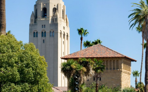 Stanford University just a short distance away