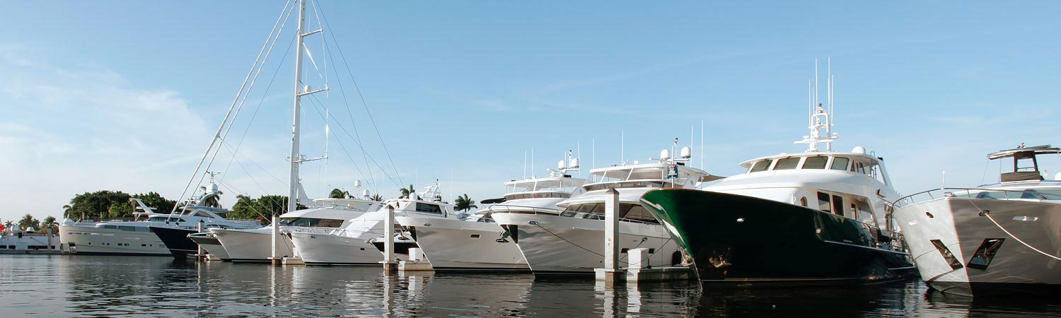 Boats Docked In Marina
