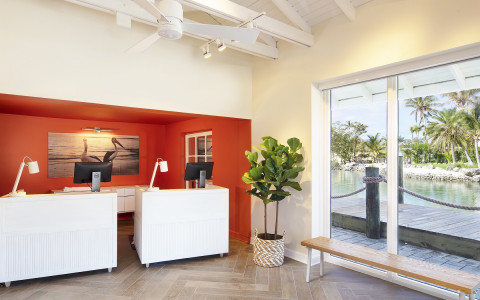 Pelican cove front desk