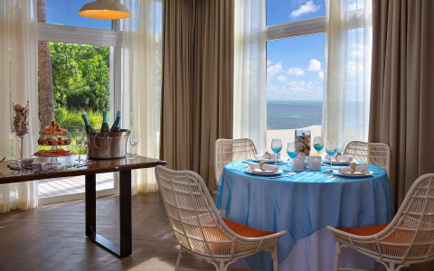 Pelican Cove formal dining set up