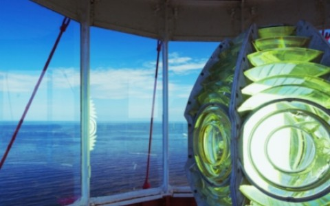 lighthouse lens close up