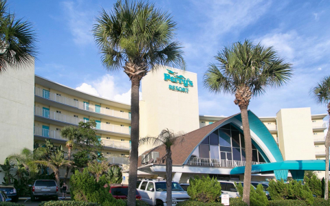 Perrys ocean edge exterior and hotel sign