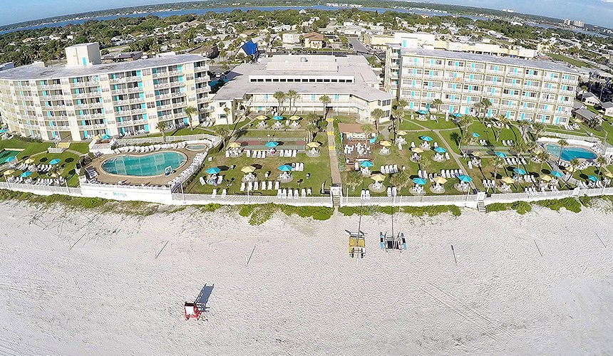 Perrys ocean edge drone view of the property