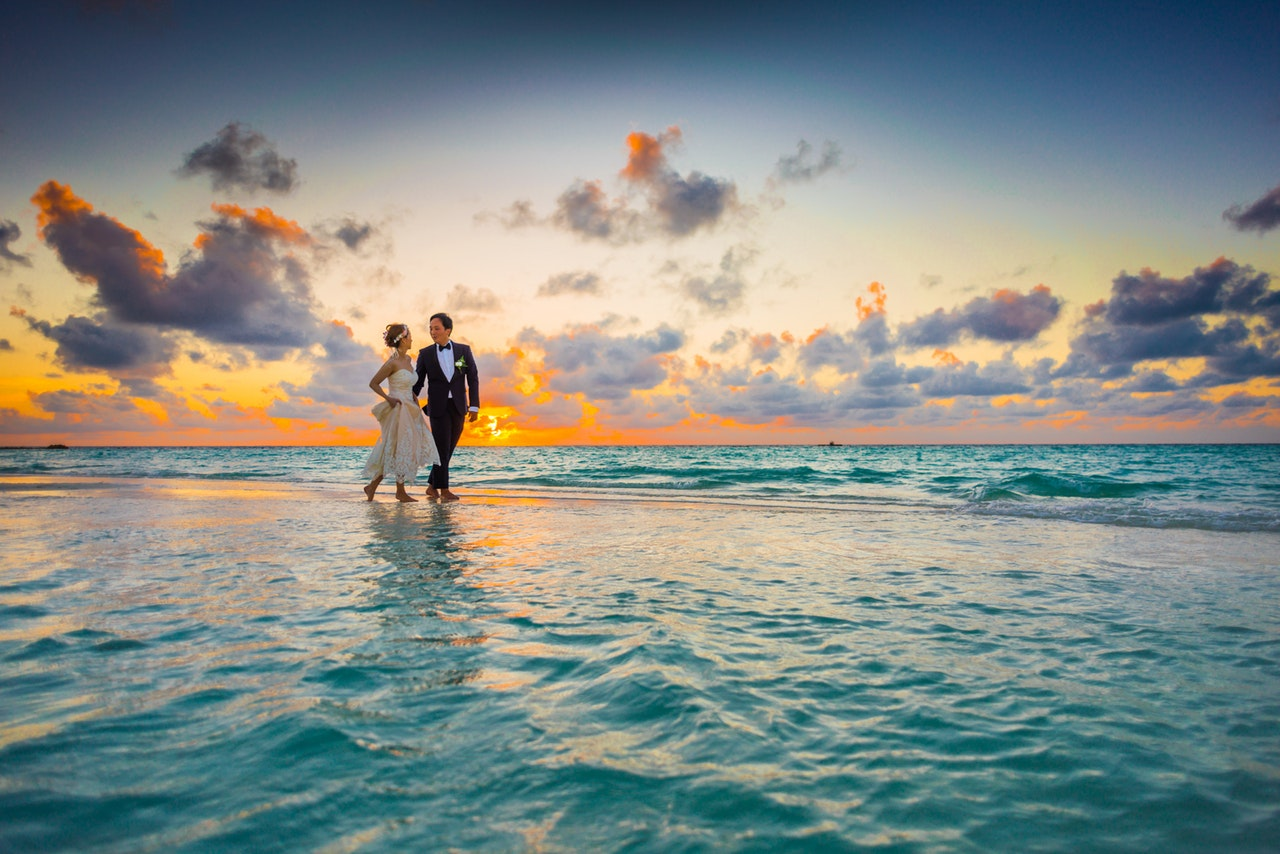 couple married beach