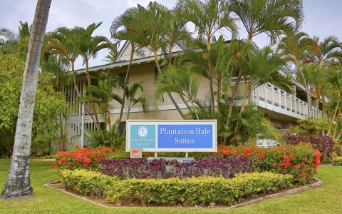 Plantation Hale Suites sign front view