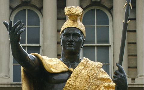 Top Half of Statue of King Kamehameha