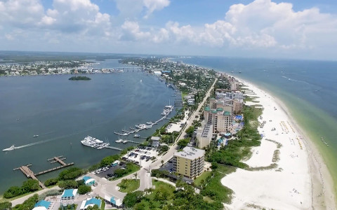 Video thumbnail - aerial view of fort myers and beach
