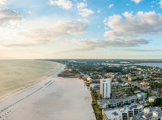 Aerial view of Ft. Myers & beach