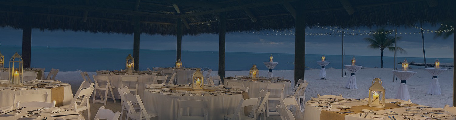 wedding reception by the beach