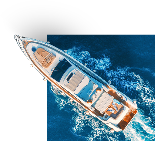 aerial view of a boat on the water