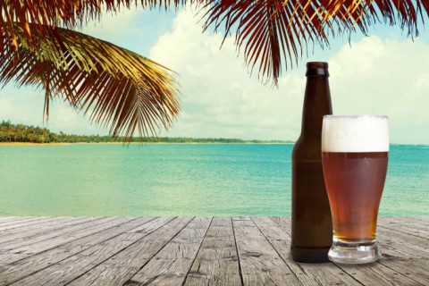 beer along the beach