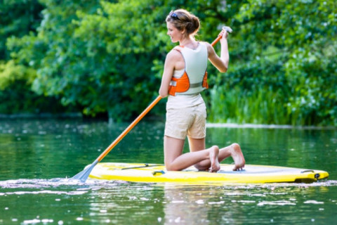 girl on a paddleboard