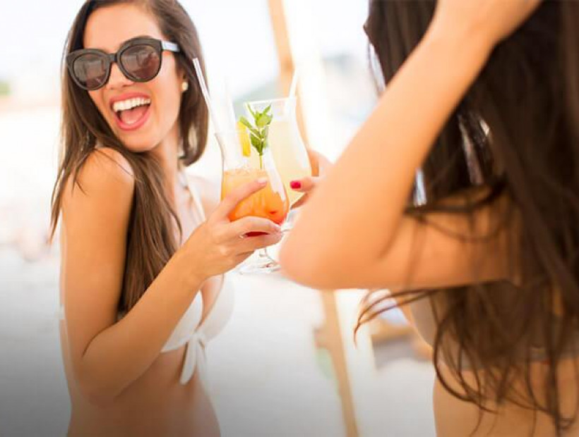girls drinking cocktails