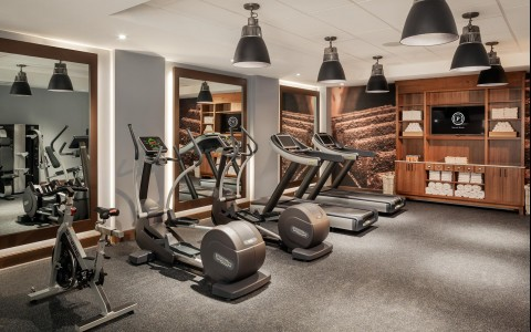 Fitness room with elliptical machines & treadmills