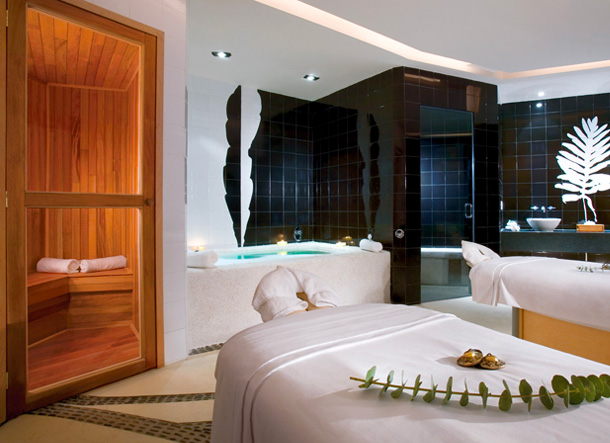 Two spa beds for massages