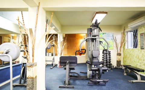 Fitness center with machines & weights