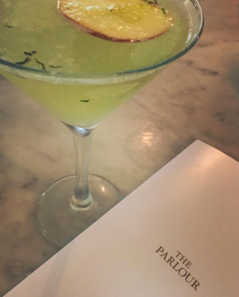 the parlour menu and drink