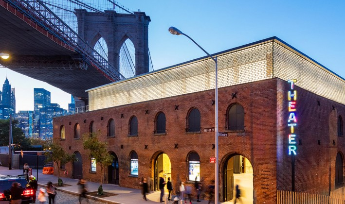 Saint Anns Warehouse and brooklyn bridge