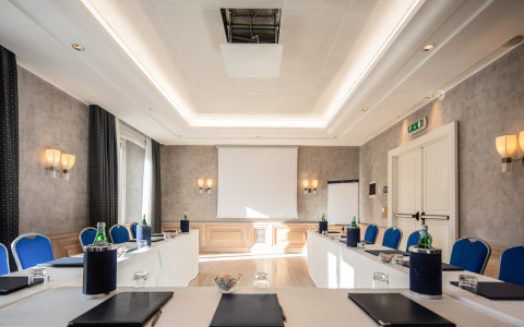 luxe rose garden classroom meeting space